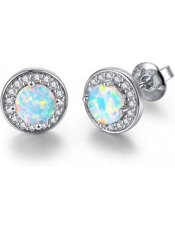 DwearBeauty Cubic Zirconia and Opal Earrings