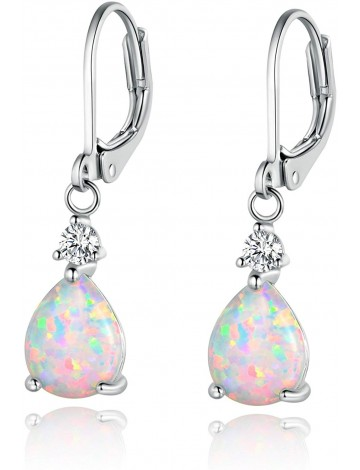 Amazon Collection Leverback Opal Earrings