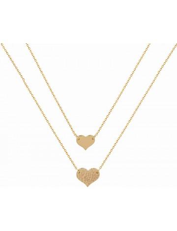 Mevecco Layered Handmade Love Necklace