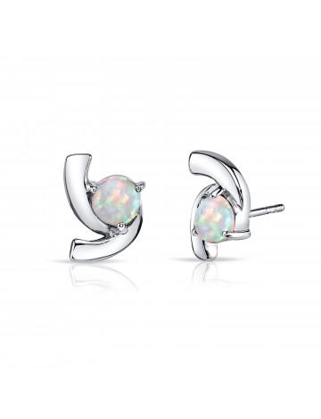 Ruby & Oscar Opal Trinity Stud Earrings