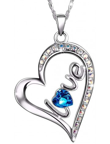 SIVERY 'Love Heart' with Swarovski Crystals