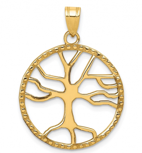 The Black Bow Jewelry & Co 14K Gold Tree of Life Pendant