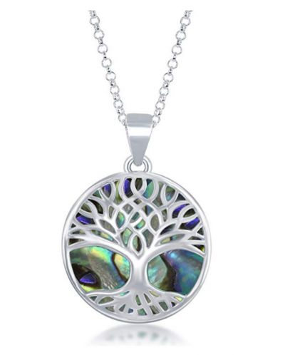 Beaux Bijoux Turquoise/Abalone/Mother-of-Pearl Pendant