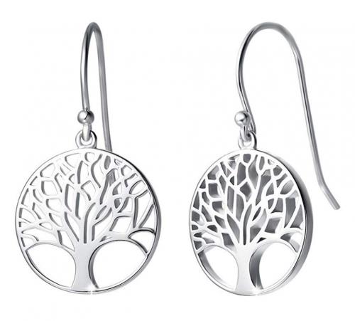 Agvana 925 Sterling Silver Gold Tree of Life Dangle Earrings