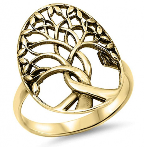 Sac Silver CHOOSE YOUR COLOR Tree of Life Ring