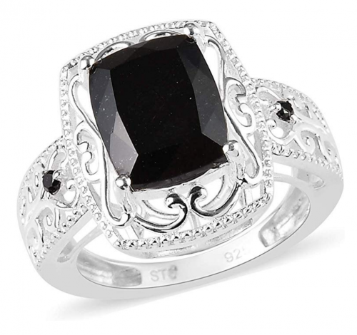 Shop LC 925 Sterling Silver Black Tourmaline Ring