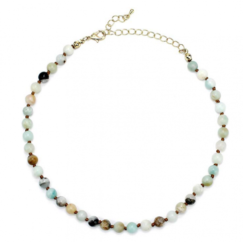 POMINA Semi Precious Stone Beaded Short Necklace