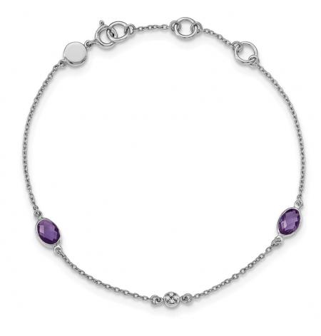The Black Bow Jewelry Co. Amethyst and Diamond Bracelet