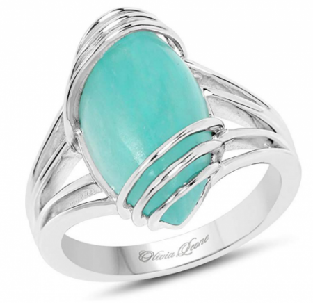Huang and Co. Amazonite .925 Sterling Silver Ring
