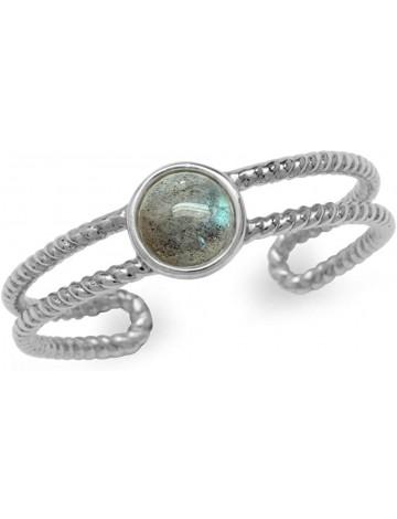 Silvershake Labradorite Adjustable Ring