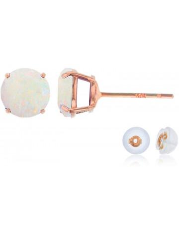 Decandence Rose Gold Opal Stud Earrings