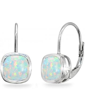Sterling Silver Genuine Round Bezel-Set Dangles