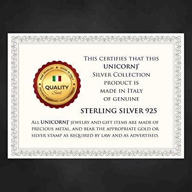UNICORNJ Sterling Silver Bracelet Certificate