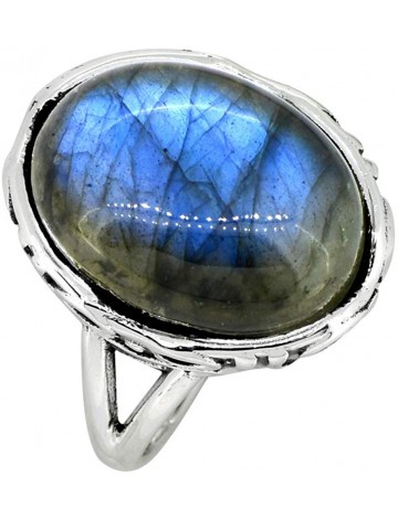 YoTreasure Labradorite Split Shank Ring