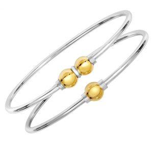 solid 925 Sterling silver double bracelet