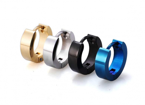 Jstyle Stainless Steel Small Hoop Earrings for Men