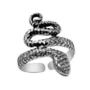 925 Designs Sterling Silver Snake Ring