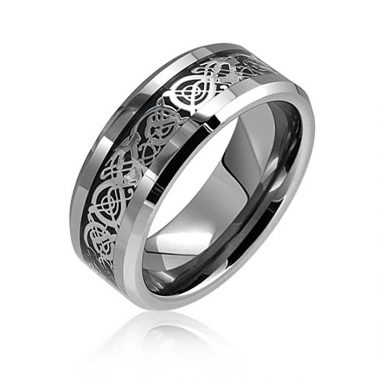 Bling Jewelry Tungsten Celtic Ring