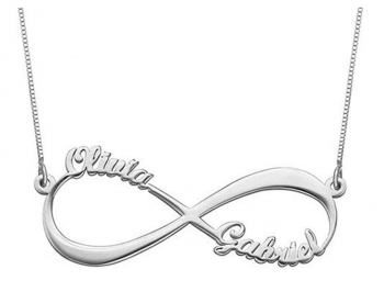 Ouslier Personalized Infinity Name Necklace