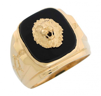 Jewelry Liquidation Onyx Lion Head Ring
