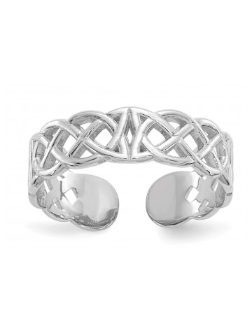 Black Bow Jewelry Co. Celtic Knot Toe Ring in 14 K White Gold