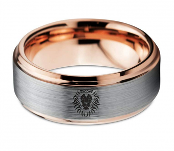 Zealot Jewelry 18k Rose Gold Lion Ring