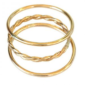 California Toe Rings 14k Gold Filled Plain Braid