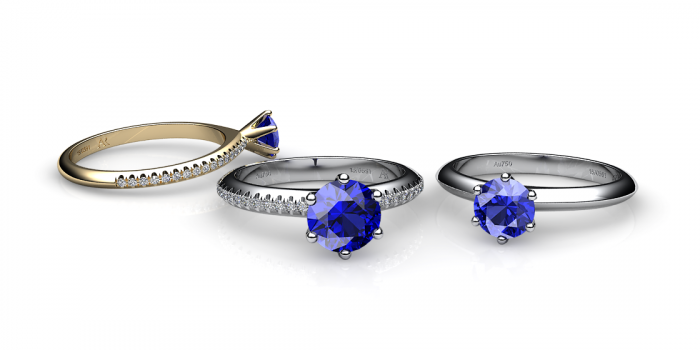 Diamond alternatives: blue sapphire stones