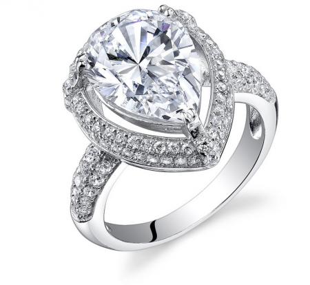 Ruby & Oscar Cubic Zirconia Halo Ring