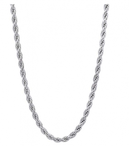 The Bling Factory Braided Rope Chain Necklace or Bracelet