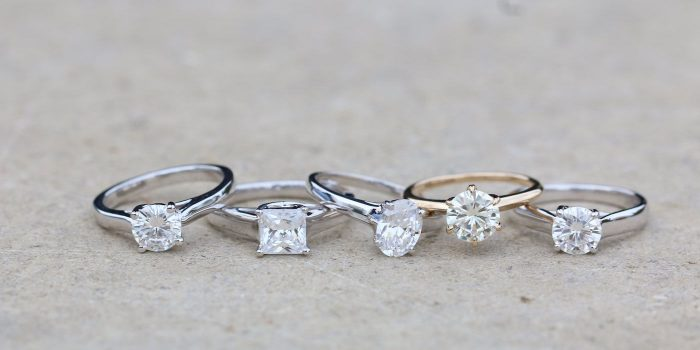 Diamond alternatives: White sapphire stones