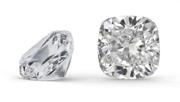 Cushion-shaped diamond