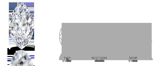 Marquise-shaped diamond