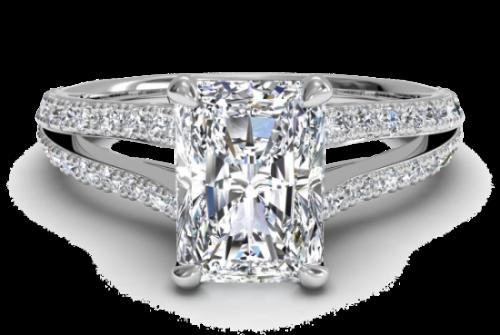 Mixed cut diamond