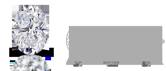 Oval-shaped diamond