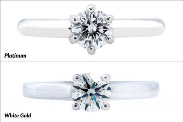 Platinum or white gold