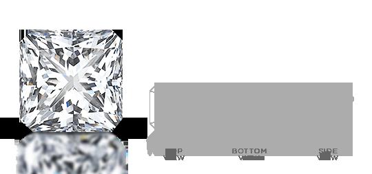 Radiant-shaped diamond