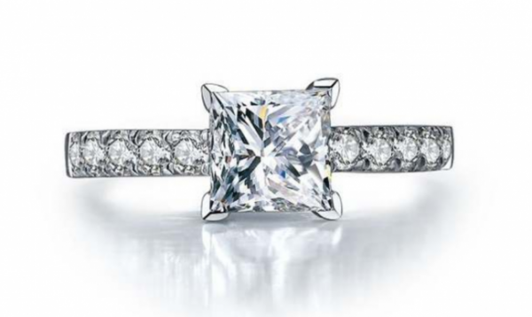 Princess-shaped diamond