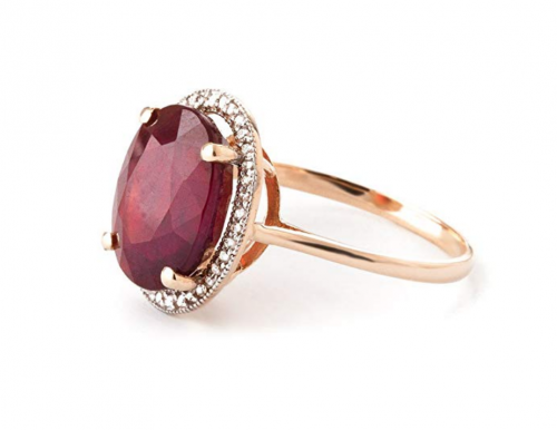 Galaxy Gold Oval-Shaped Ruby Rose Gold Ring