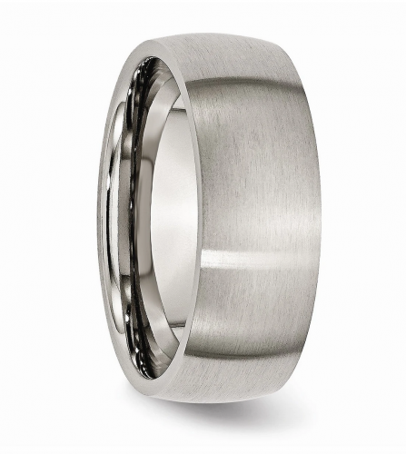 Black Bow Jewelry & Co. Titanium Domed Band