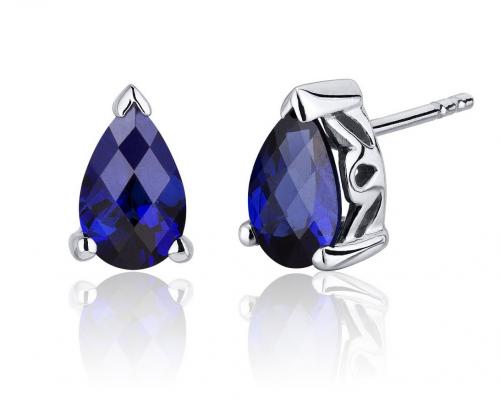 Ruby & Oscar Sapphire Stud Earrings