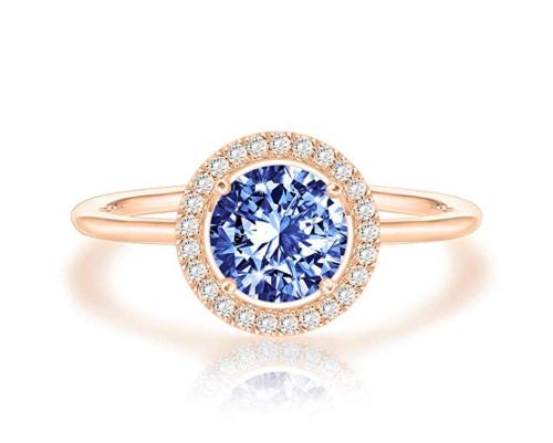 PAVOI Swarovski Crystal Sapphire Birthstone Ring