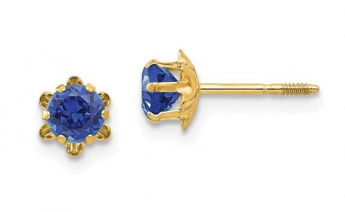The Black Bow Jewelry & Co. Sapphire Screw Back Earrings