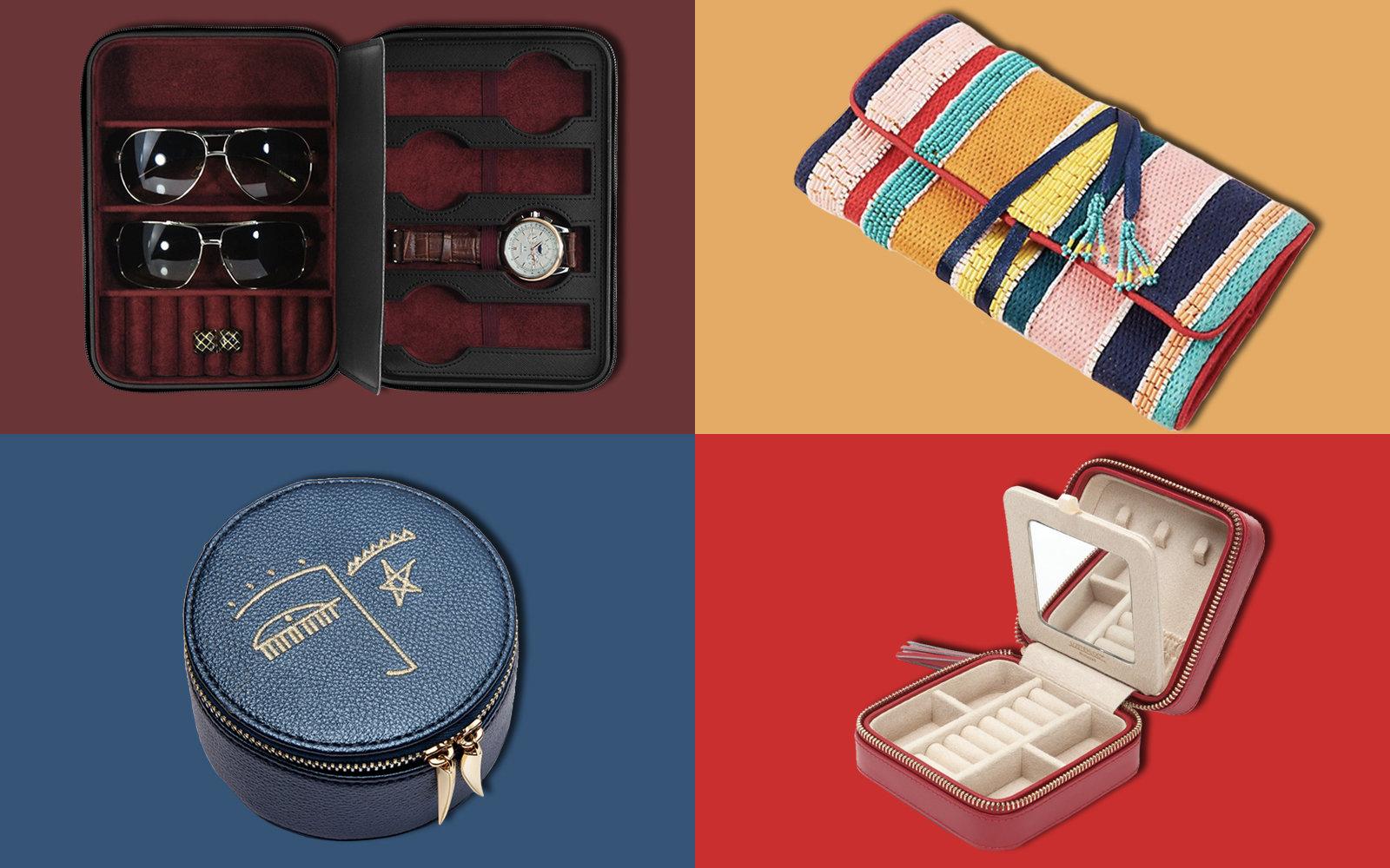 The perfect travel organizer Jewelry Pouch in anti tarnish Pink Zebra