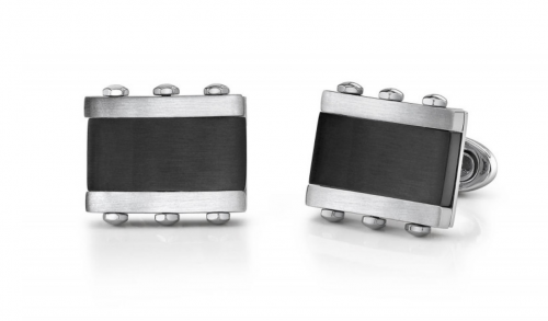 Ruby & Oscar Men's Cufflink in Stainless Steel
