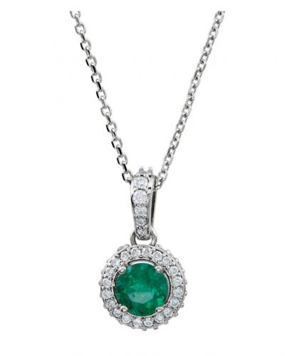 Black Bow Jewelry & Co. Emerald & Diamond Necklace