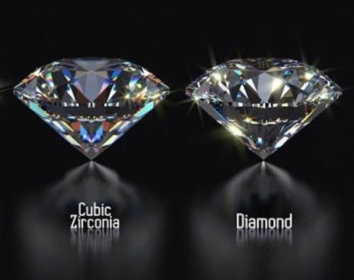 Cubic zirconia or diamond