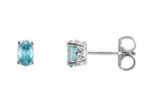 Black Bow Jewelry & Co. Blue Zircon Stud Earrings