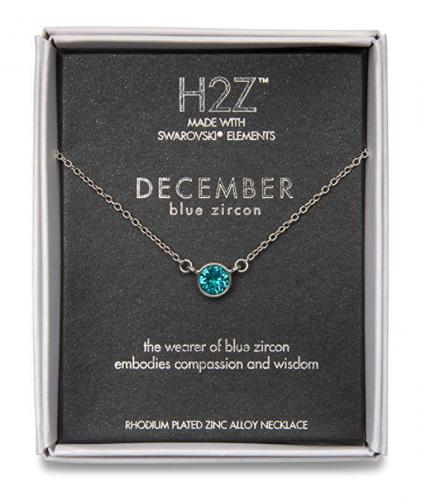 Pavilion Gift Company December Blue Zircon Necklace