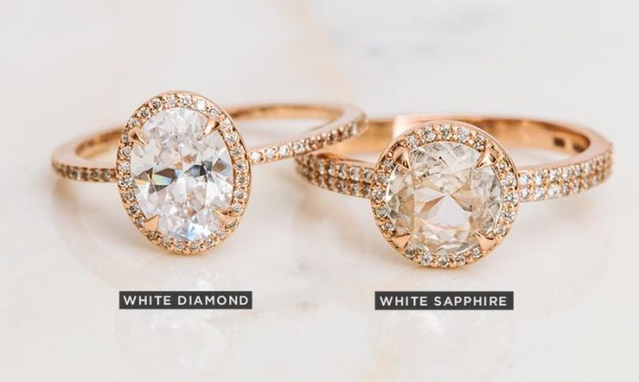 White diamond vs white sapphire